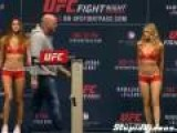 UFC Weigh-In Girl Gets Eye-Full