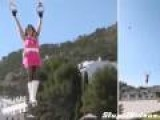 Woman Flies Using 2 RC Helicopters