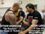 World's Strongest Man Vs. Arm Wrestling Champion