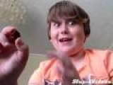 Young Scottish Boy Eats Hot Pepper
