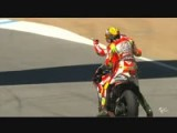 Valentino Rossi Gets A Lift From Nicky Hayden