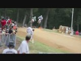 Three Riders Crash At Peoria TT Pro Singles Heat Race