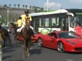 Horse Kicks Ferrari 458 Italia In Shanghai China!