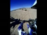 Desert Motorcycle Race Crash