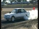 Holden VK Commodore Burnout Ends With Fire!