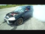 Honda Civic Drift And Burnout On An Abandoned Airstrip