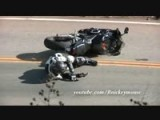 Honda CBR Lowside Crash On Mulholland