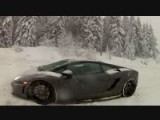 Lamborghini Gallardo In The Snow!