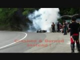 Motorcycle Crash & Burn