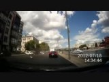 Mercedes CL Crashes Into 3 Cars