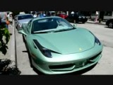 Mint Colored Ferrari 458 Italia Spider