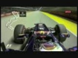 Pole Position Lap For Sebastian Vettel At Singapore 2011