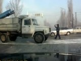 Russian Traffic Cop Hit By Truck