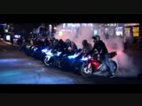 Stunt Rider Exciting Bike Night In Ukraine