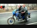 Two Riders Motorcycle Wheelie Goes Bad