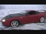 Toyota Supra Snow Drifting Fun