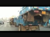Tow Truck Hauling Four Trucks In Trouble!