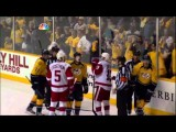 Shea Weber Head Smash On Zetterberg Detroit Red Wings Vs Nashville Predators 4 11 12 NHL Hockey