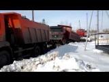 Russian Kamaz Truck Pulls Chinese Truck Fail