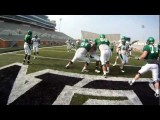 North Texas Football - Spring Practice GoPro OL & DL Drills