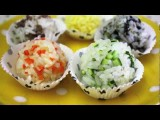 Korean Food: Five Color Rice Balls 오색 주먹밥