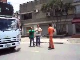 Road Rage Involving Sticks And A Mad Truck Driver
