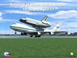 Shuttle Discovery IAD Arrival Simulation By TIS3D.com And FlightArrivals.com